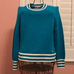 Turquoise & White Brooks Brothers Sweater XL
